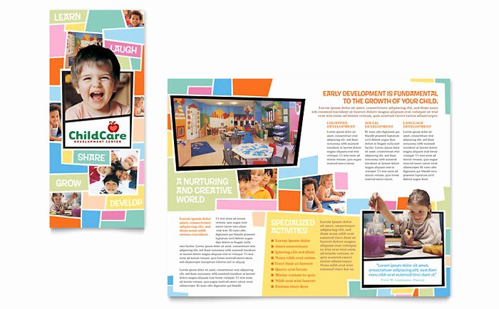 Child Care Flyer Template Best Of Preschool Kids & Day Care Brochure Template Design