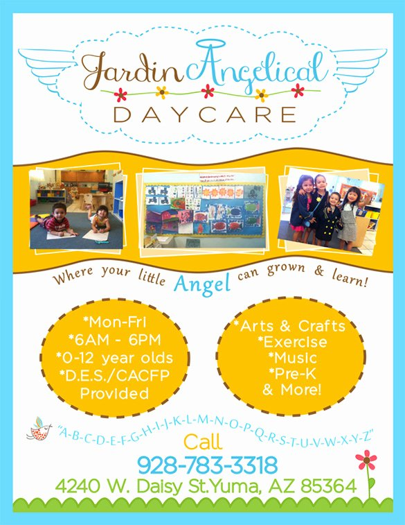 Child Care Flyer Template Elegant 20 Daycare Flyer Templates Word Psd Ai Vector Eps