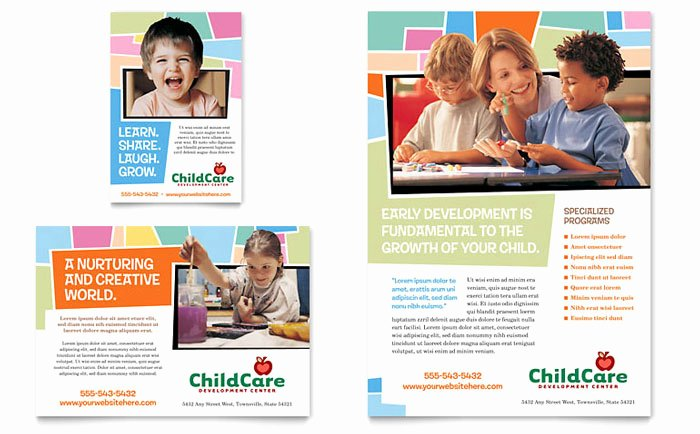Child Care Flyer Template Fresh Preschool Kids & Day Care Flyer & Ad Template Design