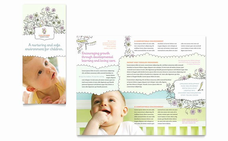 Child Care Flyer Template Inspirational Babysitting & Daycare Tri Fold Brochure Template Word
