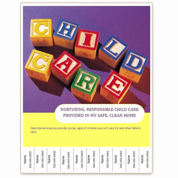 Child Care Flyer Template Inspirational Find Free Flyer Templates for Word 10 Excellent Options