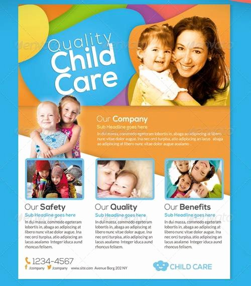 Child Care Flyer Template Lovely 100 Awesome Flier or Flyer Templates Xdesigns