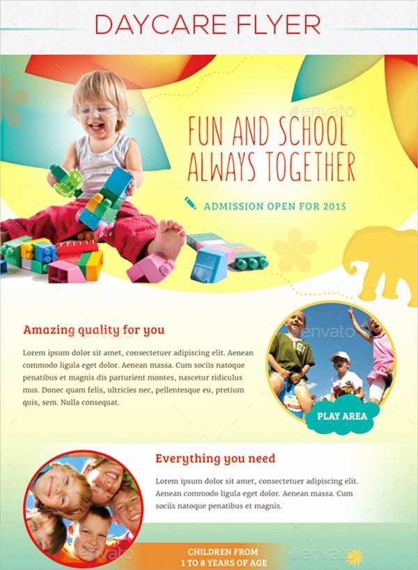 Child Care Flyer Template Lovely 15 Day Care Flyers