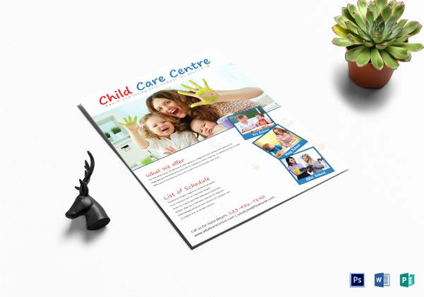 Child Care Flyer Template Lovely 30 Daycare Flyer Templates