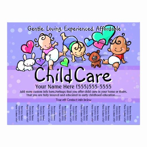 Child Care Flyer Template Lovely 33 Childcare Flyers Childcare Flyer Templates and