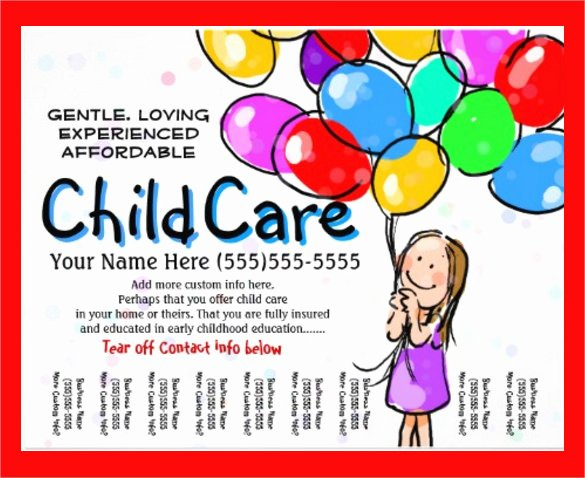 Child Care Flyer Template Luxury 33 Daycare Flyer Templates Word Psd Ai Eps Vector