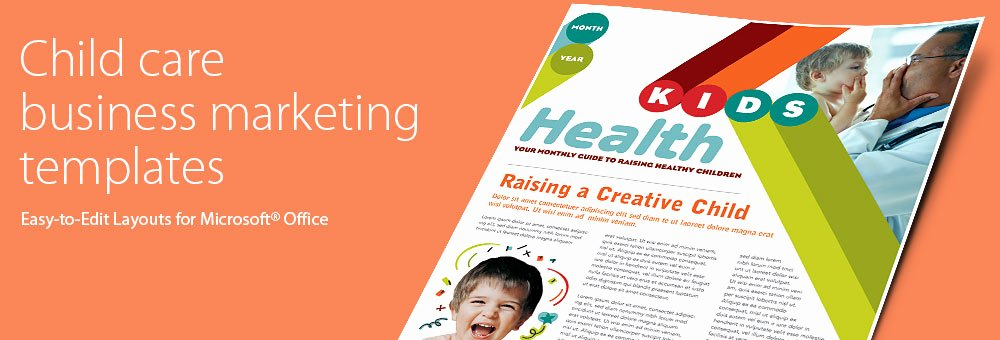 Child Care Newsletter Template Awesome Child Care Brochures & Flyers Word & Publisher Templates