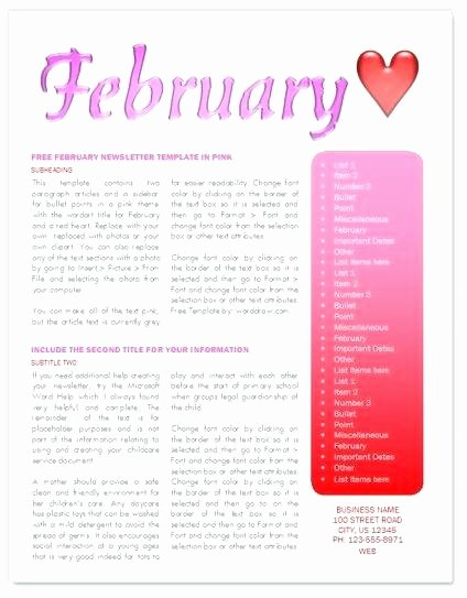 Child Care Newsletter Template Awesome Child Care Newsletter Templates Free – Flybymedia