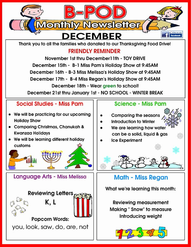 Child Care Newsletter Template Awesome Delray Beach Day Care Facility