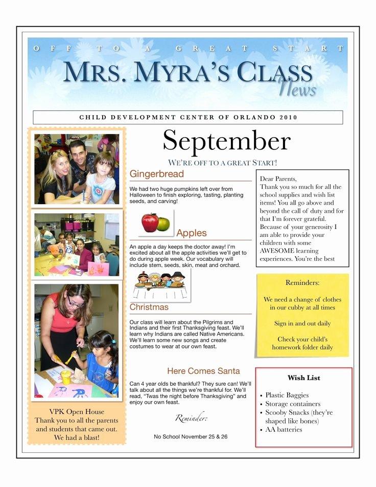 Child Care Newsletter Template Beautiful 25 Best Ideas About Preschool Newsletter On Pinterest