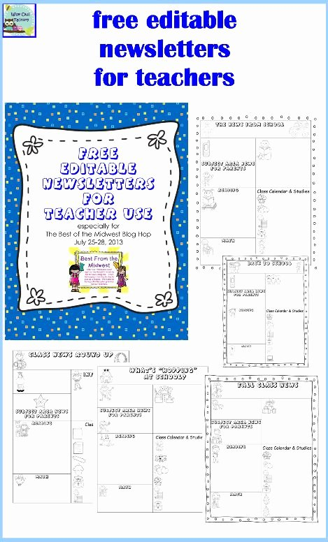 Child Care Newsletter Template Beautiful 323 Best Images About Daycare On Pinterest