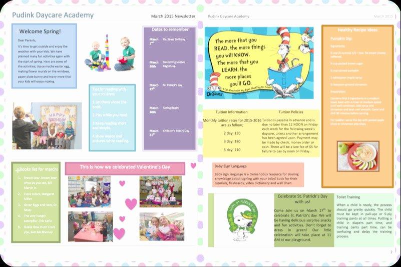 Child Care Newsletter Template Elegant Child Care Newsletter Template Free Download Templates