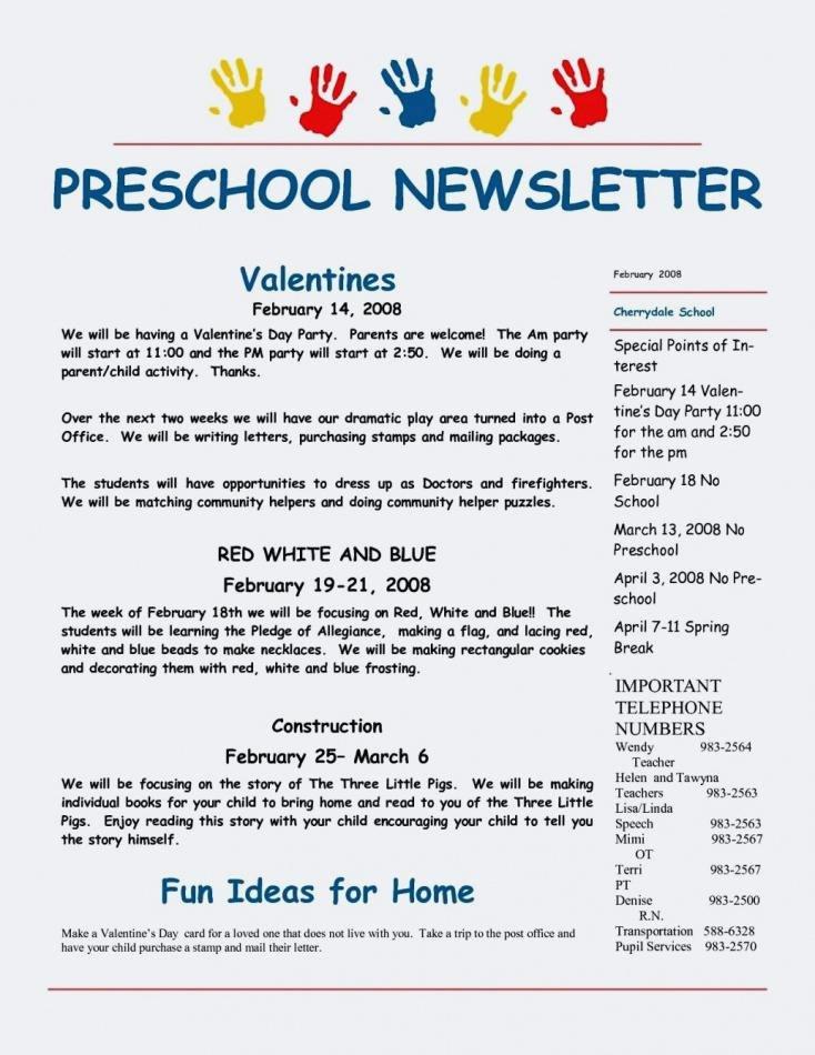 Child Care Newsletter Template Elegant Child Care Newsletter Templates Free – Flybymedia