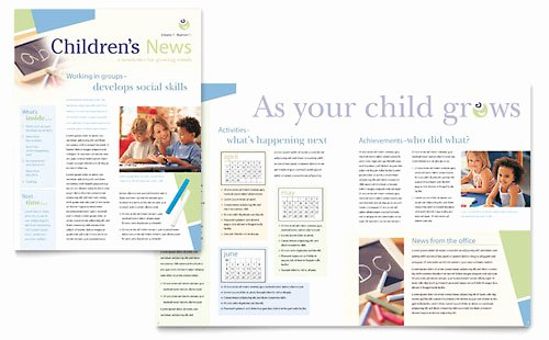 Child Care Newsletter Template Fresh Education & Training Newsletter Templates Word & Publisher