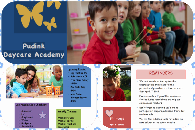 Child Care Newsletter Template Fresh Free Child Care Newsletter Templates