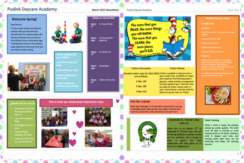 Child Care Newsletter Template Inspirational Free Child Care Newsletter Templates