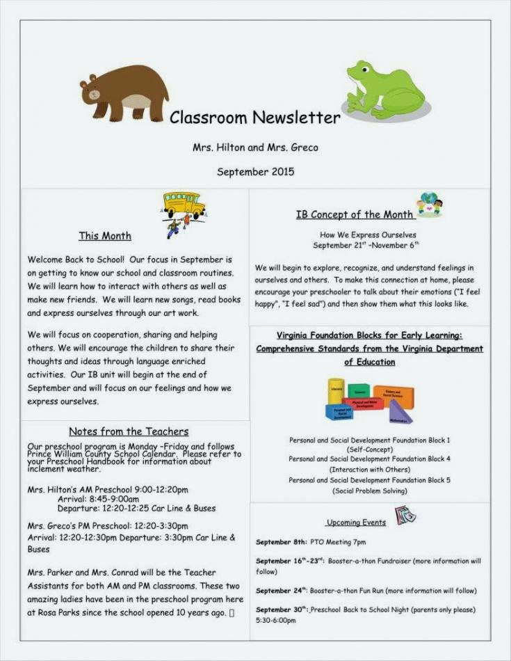 Child Care Newsletter Template Inspirational Newsletter Template Child Care Templates Free for Resume