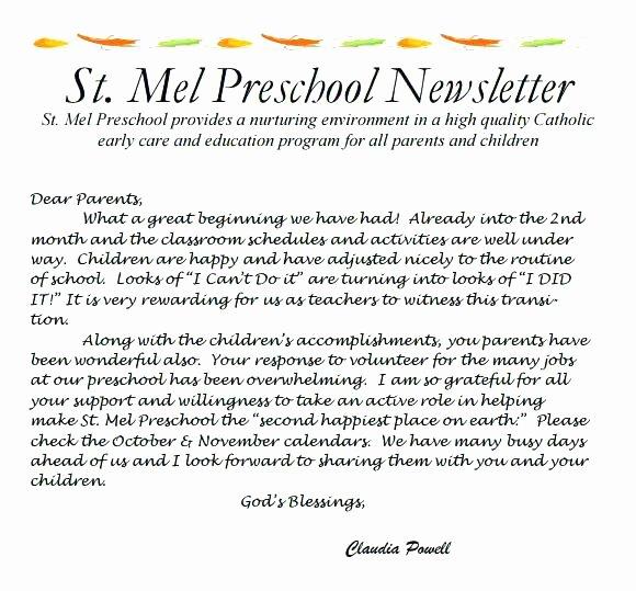 Child Care Newsletter Template Lovely Best Newsletter Template for Preschool Childcare