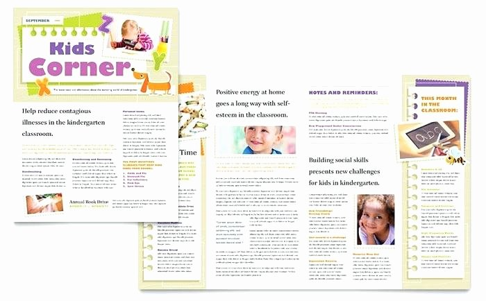 Child Care Newsletter Template Lovely Template Example Weekly Newsletter Templates for Teachers