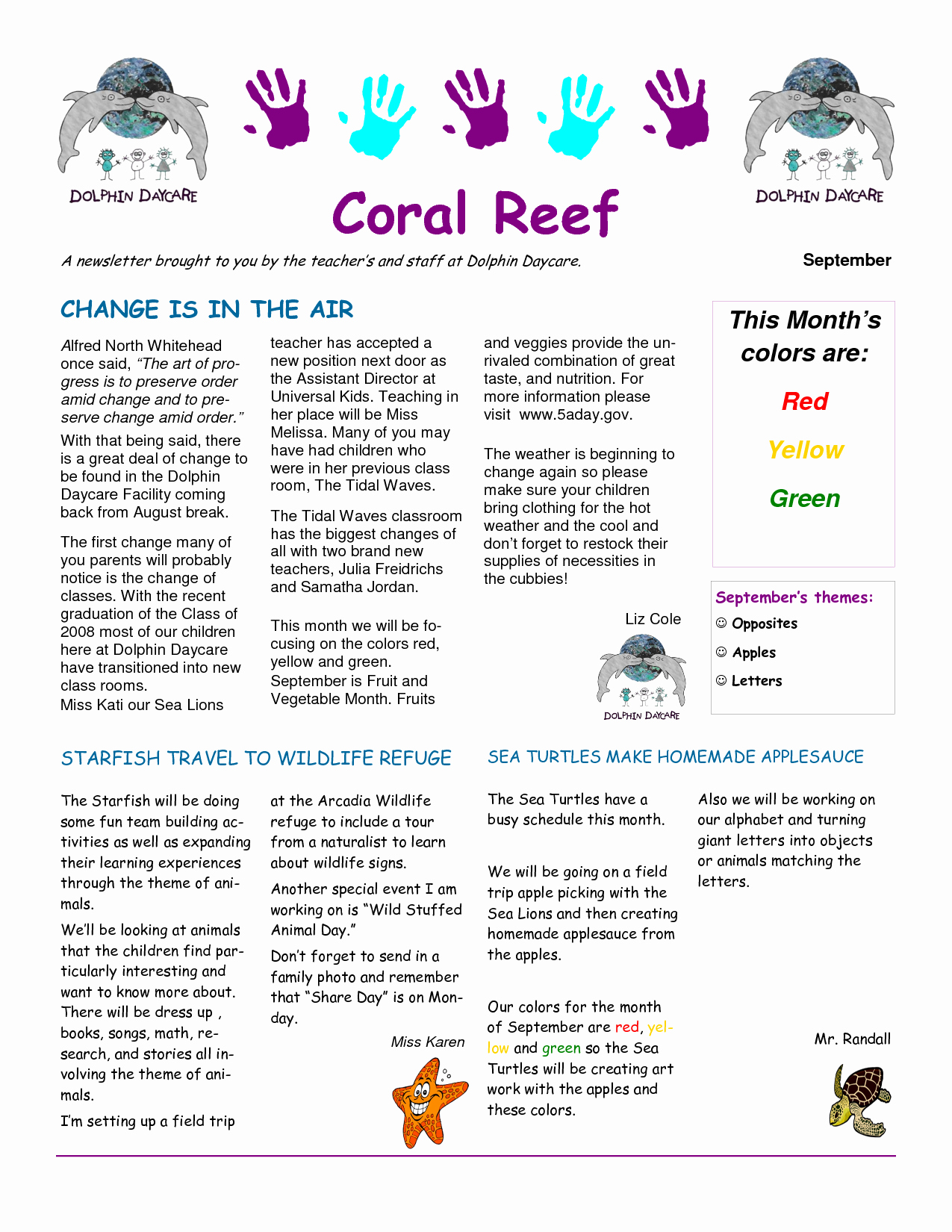 Child Care Newsletter Template Luxury 6 Best Of Child Care Newsletter Templates Sample