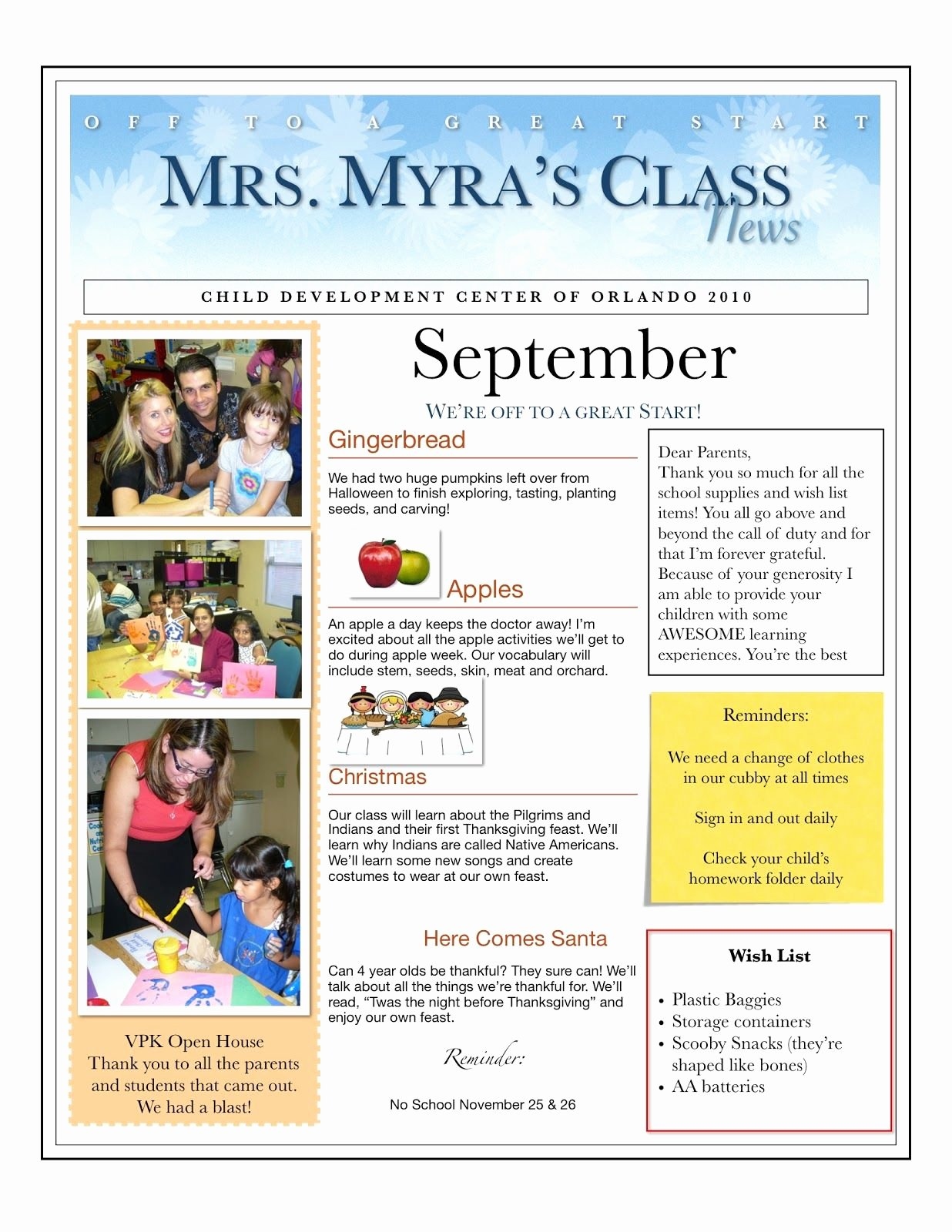 Child Care Newsletter Template Luxury Centers and Circle Time the Preschool Newsletter