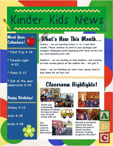 Child Care Newsletter Template Luxury Child Care Newsletter Ideas 10 Preschool Newsletter