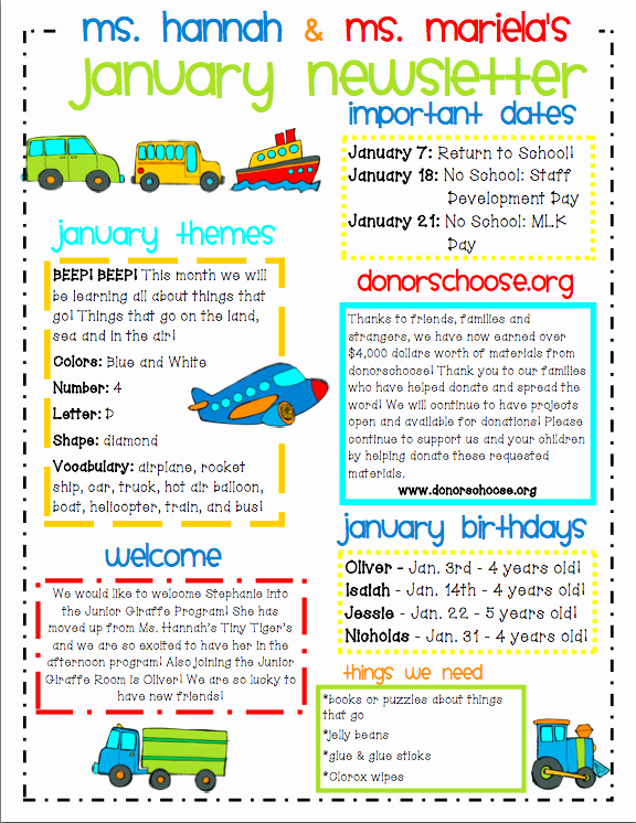 Child Care Newsletter Template New Ideas for Municating with Parents