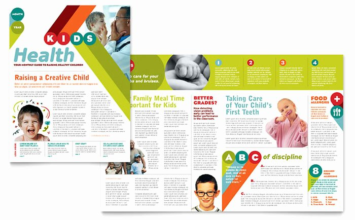 Child Care Newsletter Template New Pediatrician & Child Care Newsletter Template Design