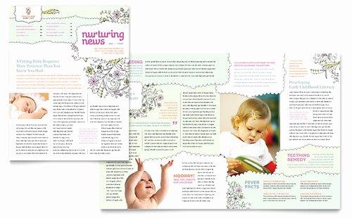 Child Care Newsletter Template Unique Child Care Newsletter Templates Word & Publisher