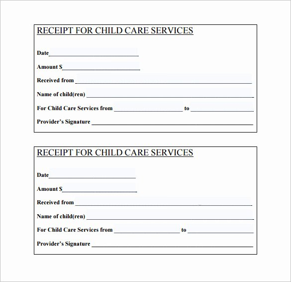 Child Care Receipts Template Beautiful 24 Daycare Receipt Templates Pdf Doc