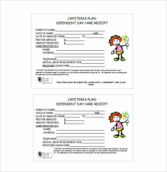 Child Care Receipts Template Beautiful Receipt Template Doc for Word Documents In Different Types