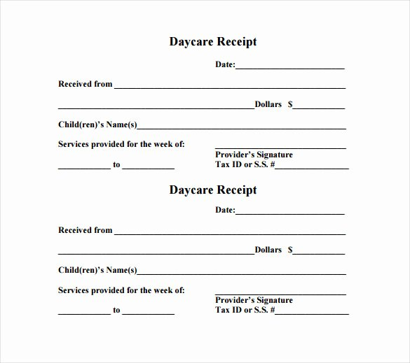 Child Care Receipts Template Fresh 24 Daycare Receipt Templates Pdf Doc