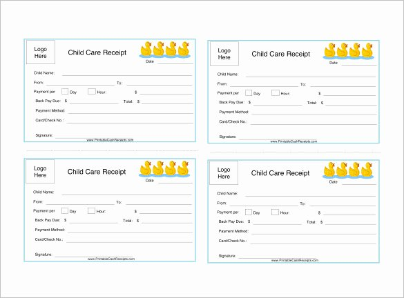 Child Care Receipts Template Inspirational 24 Daycare Receipt Templates Pdf Doc