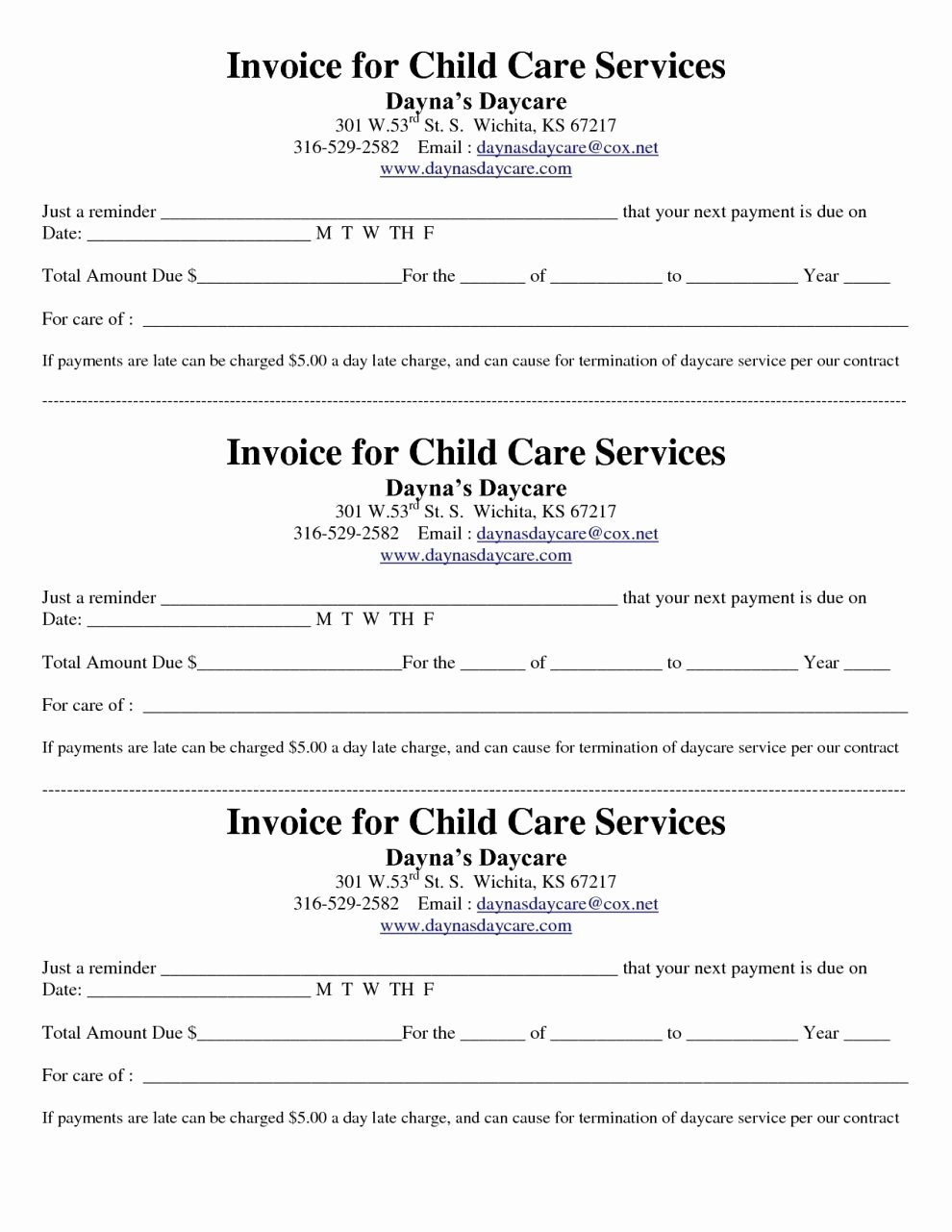 Child Care Receipts Template Lovely Child Care Invoice Template Invoice Template Ideas