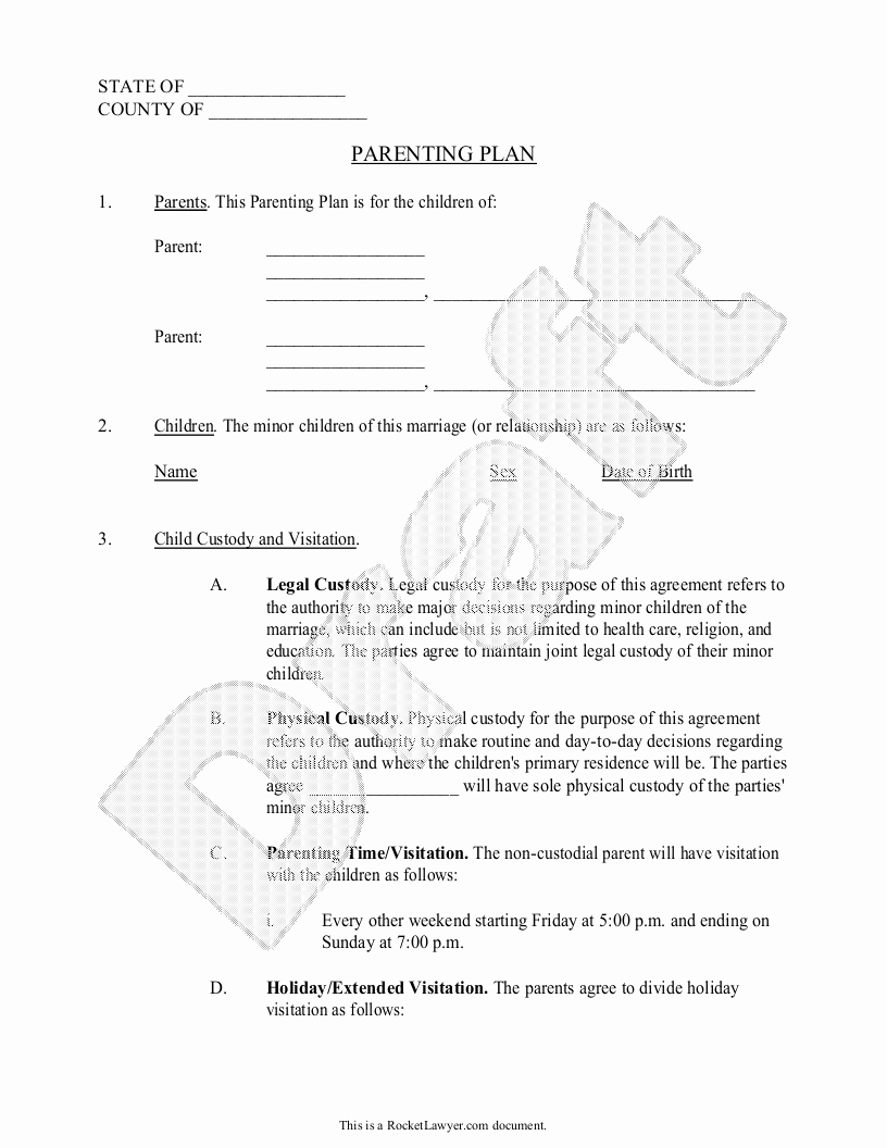 Child Visitation Log Template Beautiful Agreement Joint Custody Agreement form