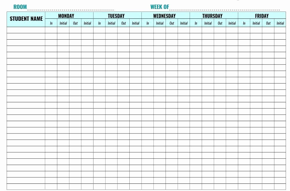 Child Visitation Log Template Lovely Here is Preview Another Sample Child Care Sign In Sheet