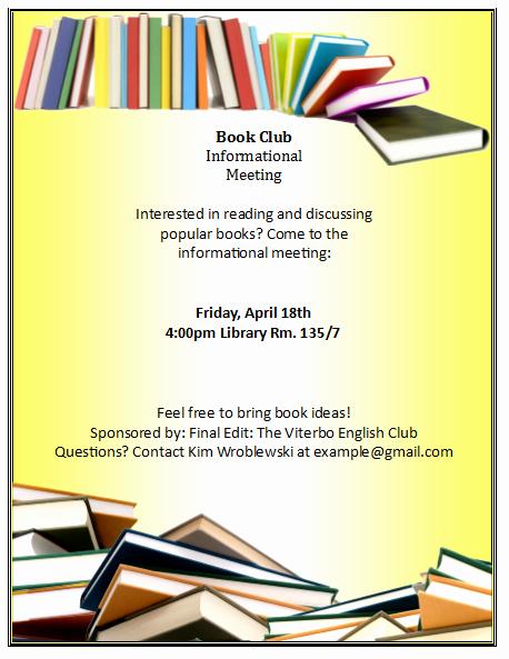 Children Book Layout Template Beautiful Book Club Flyer Template