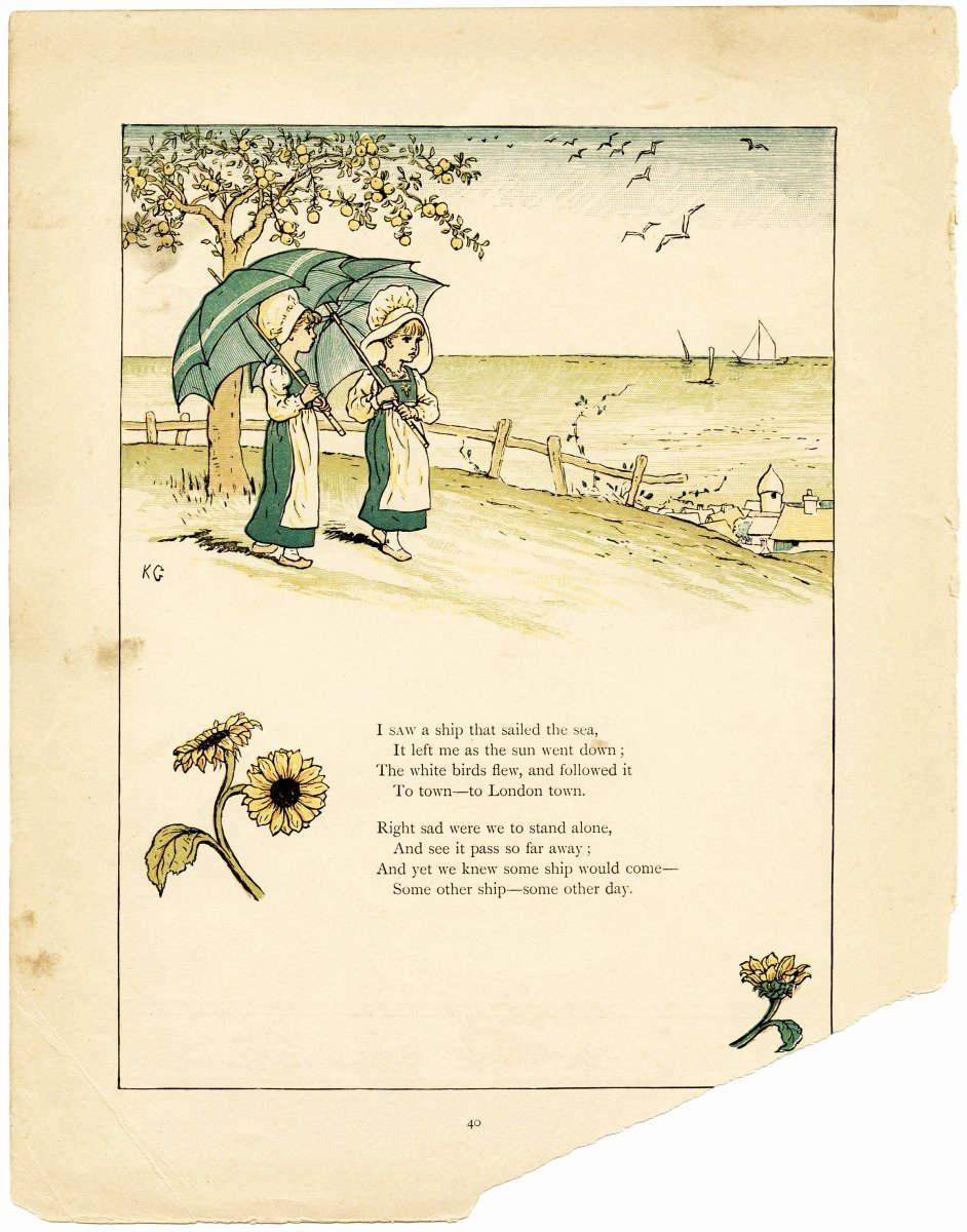 Children Book Layout Template Beautiful Kate Greenaway Storybook Page
