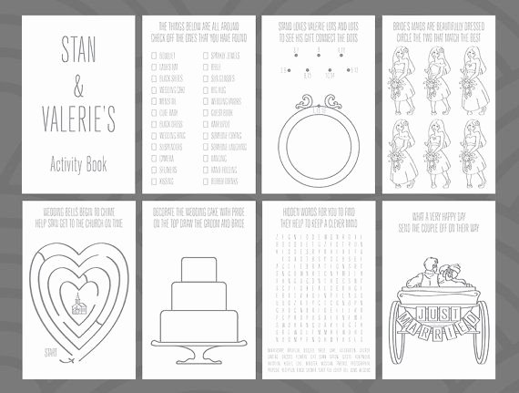 Children Book Layout Template Beautiful Wedding Activity Book Design by Divertenti On Etsy