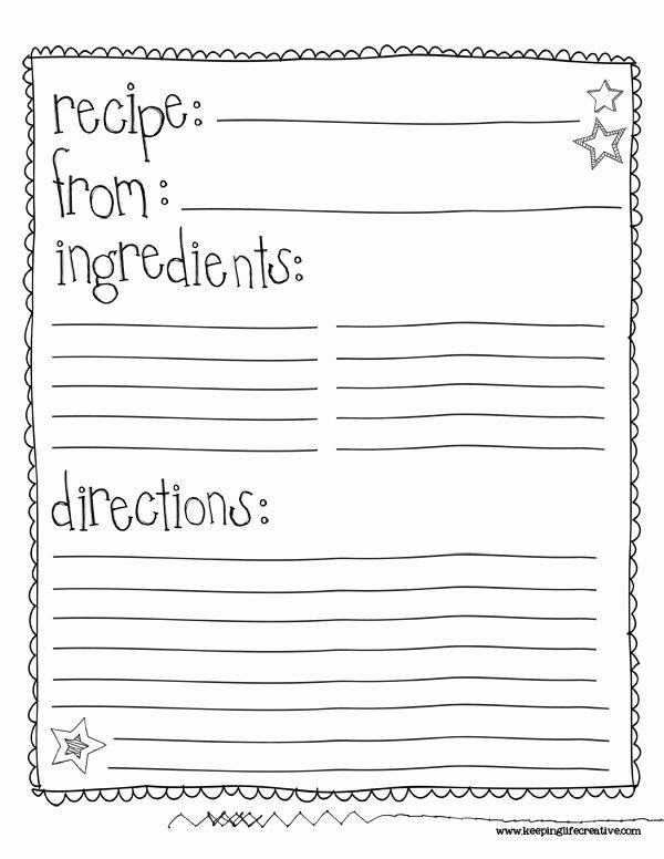 Children Book Layout Template Elegant Class Recipe Book Template Google Search