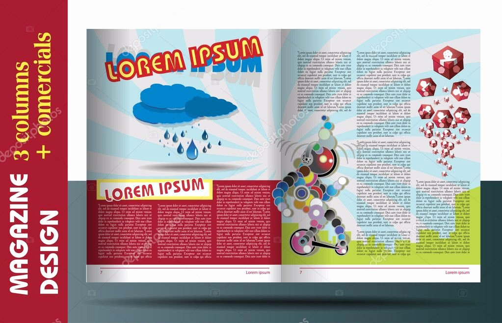 Children Book Layout Template Lovely Magazine Layout for Kids Design Template — Stock Vector