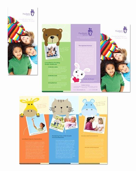 Children Book Layout Template New Pediatrician & Child Care Tri Fold Brochure Template