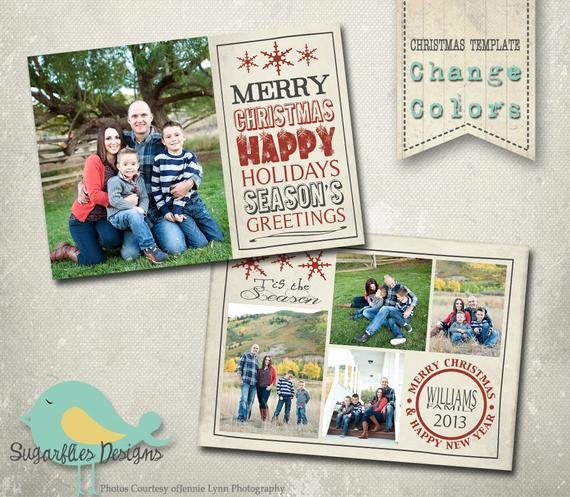 Christmas Card Template Photoshop Awesome Christmas Card Photoshop Template Family Christmas Card 97