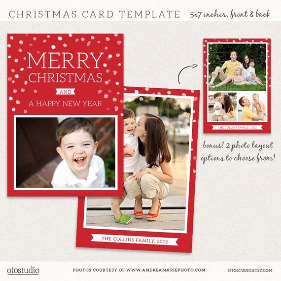 Christmas Card Template Photoshop Awesome Digital Shop Christmas Card Template for Photographers