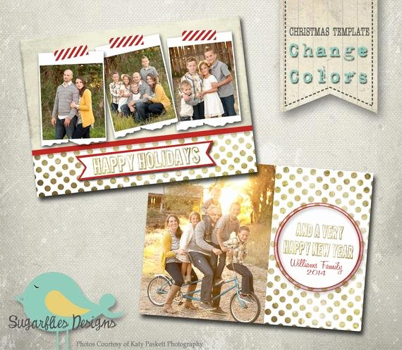 Christmas Card Template Photoshop Best Of Christmas Card Photoshop Template Gold Family Christmas Card