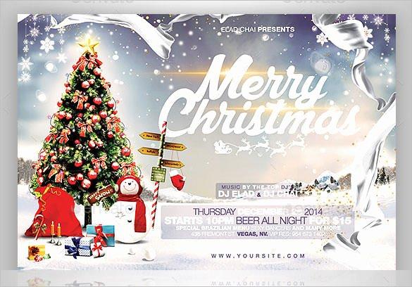 Christmas Card Template Photoshop Fresh 60 Christmas Flyer Templates Free Psd Ai Illustrator
