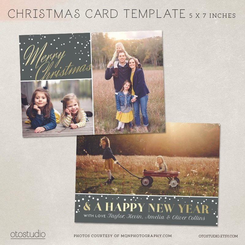Christmas Card Template Photoshop Inspirational Digital Shop Christmas Card Template for Photographers