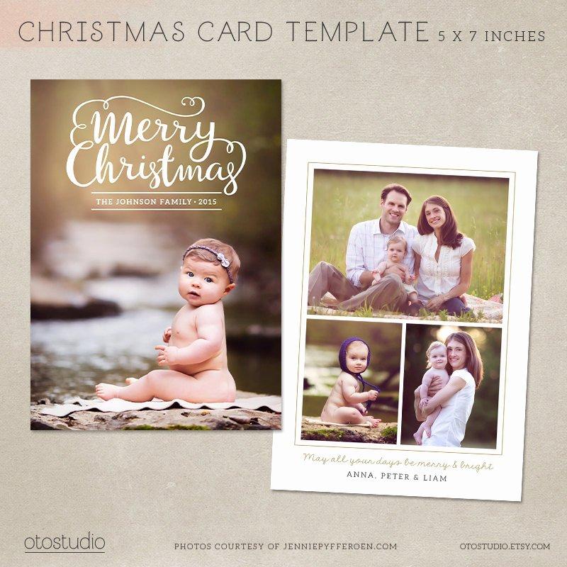 Christmas Card Template Photoshop Lovely Christmas Card Template Shop Template 5x7 Flat Card