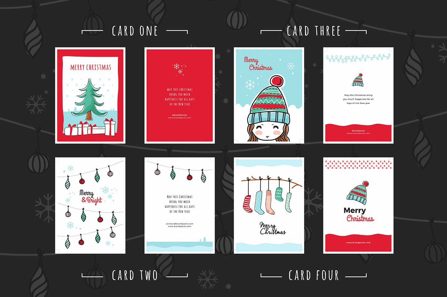 Christmas Card Template Photoshop Lovely Free Christmas Card Templates for Shop & Illustrator