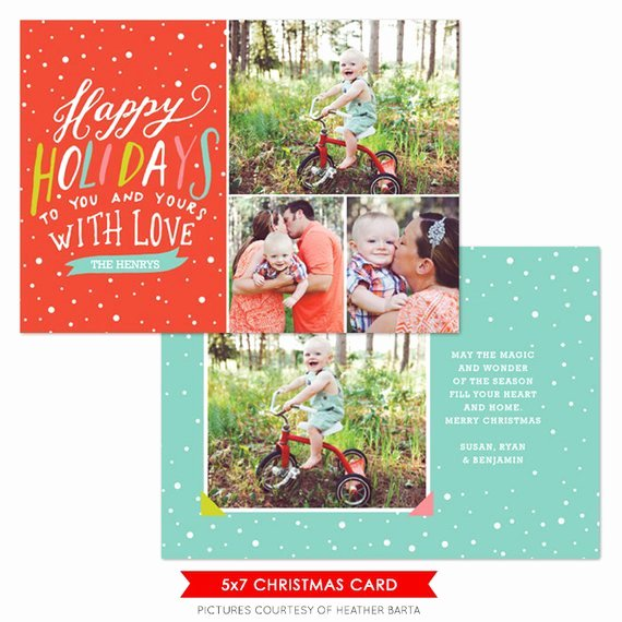 Christmas Card Template Photoshop Lovely Items Similar to Instant Download Christmas Card